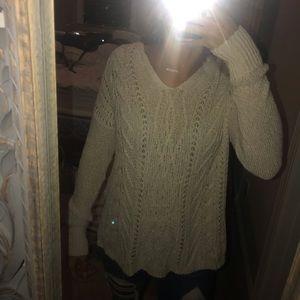 cream knit hollister sweater!